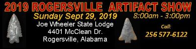 Rogersville Alabama Artifact Show